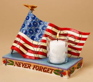 Flag and Candle
